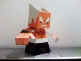 Heihachi Paper Toy by papertoyadventures
