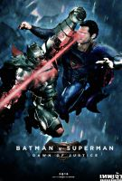 Batman v Superman:Dawn of Justice FANMADE Poster by punmagneto