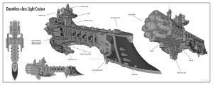 Inquisitorial Cruiser WIP by mrmao