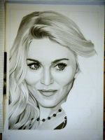 Drawing Madonna 8 by Sivine