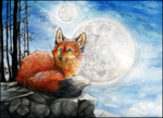 .:2 Moons:. by WhiteSpiritWolf
