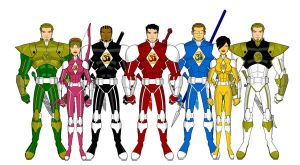 Hero-O-Matic Rangers by phantompaladin