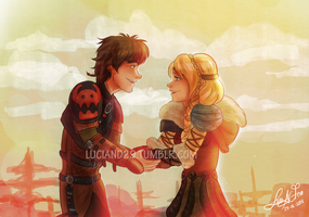 Hiccup and Astrid 29-06-2014 by Luciand29