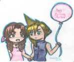 Happy Birthday Aeris: Balloon for the Birthday Gal by cleris4ever
