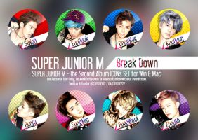 SUPER JUNIOR M BREAK DOWN ICON SET by coyote777