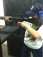 Me Shooting My Semi Automatic M-16 by WhitexFox2414