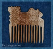 Comb with duck by pagan-art