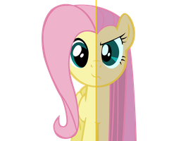 Split Fluttershy by blingingjak