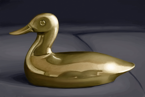 brass duck study by dierat