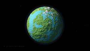 Planet low poly by GraphiteOnPaper