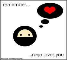 ninja loves you by illusionality