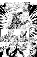 Inks - Iron Man Sample Page#4 by Manny Clark by adr-ben
