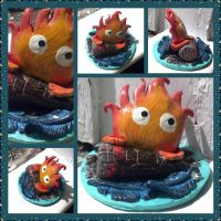 Calcifer figurine by BlooeyedSpazz