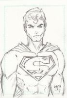 Superman Sketch Card by DavidLau82
