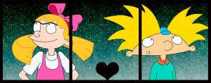 The love of Helga and Arnold by HeboFreire