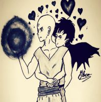 Tien and Yamcha! by Gleca