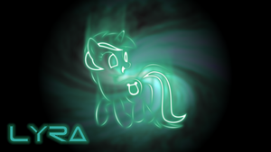 MLP Lyra neon wallpaper by PrivateScoop