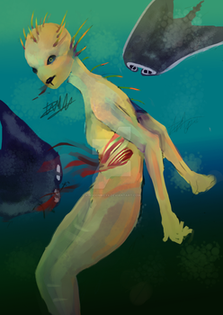 Swimming With The Fishes by KingdomKeyX