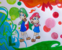 Super Maria Sisters by candycorporation