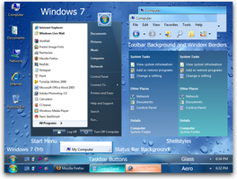 Window 7 Theme for Xp by superpowths