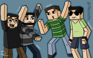 Minecraft youtuberssssss by Spork-a-licious