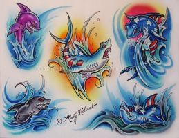Sharks by Artistic-Tattooing