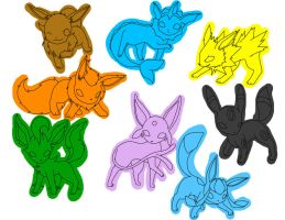 Eeveelution Elements by MichisCoolArt
