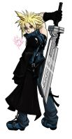 Advent Children Cloud Strife by LemiaCrescent