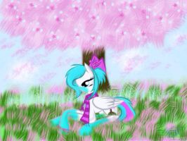 ArtTrade: Blossom time by AquaAngel1010