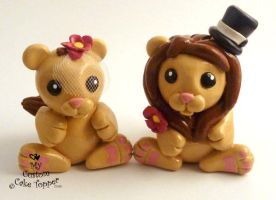 Cute Lions Cake Topper by Hollys-Art