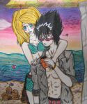 Jess and Hiei at the Beach by SweetSky