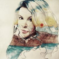Illustration - double exposure by mtart-cn