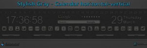 Stylish Gray - Calendar horizontal-vertical by WwGallery