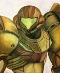 Samus Aran in color by shadwgrl