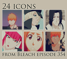 24 icons from Bleach episode 354 by roxxia
