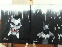 batman and joker by JsHeP97