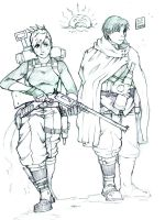RoyAi Sniper and Spotter by cola-san