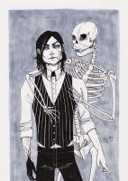 Infected and Mr. Skeleton by JennieMaher