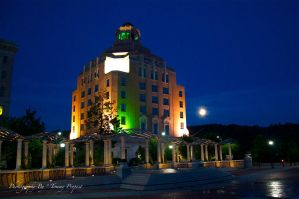 Moon Over Asheville  9561 by TommyPropest-Candler