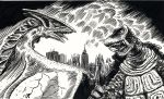 Gamera vs. Gyos by doctor-morbius