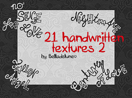 21 Handwritten Materials 2 by zakurographics