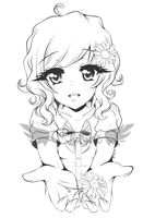 :Commission for Camille: Hana - Sketch ~ by Chierue