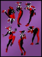 Harley Quinn: motion study by manic-pixie