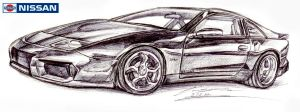 Nissan 300ZX Twin Turbo GT  Aventador Design by toyonda