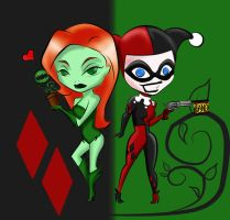 Harley and Ivy by StrayMinK
