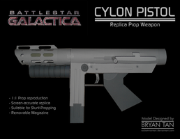BSG - Cylon Pistol Paper Model by RocketmanTan