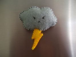 Stormy Cloud Fridge Magnet by No-Dogs-Allowed