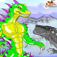 GEX ZILLA VS ZILLA by trextrex65