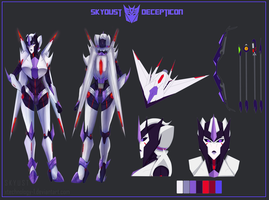 Transformers Prime OC - Skydust Full Sheet by xtechnology-1