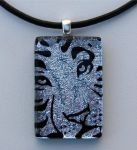 Siberian Tiger Fused Glass by FusedElegance